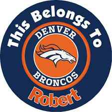 Personalized Denver Broncos Property Stickers name tags School book Labels