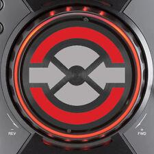 PIONEER CDJ400 TRAKTOR JOG DIAL SLIPMAT GRAPHICS - (SILVER & RED)  /  CDJ 400