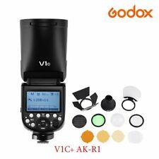 Godox V1C 2.4G TTL HSS Camera Flash AK-R1 Color Gel Diffuser Kit F Canon