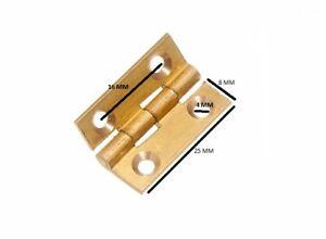 Scharniere Tür Kiste Extrudiert Messing 25mm 2.5cm mit Schrauben 6 Paar