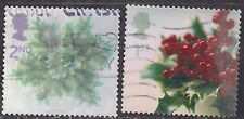 GB 2002 QE2 1st & 2nd Christmas SG 2321/2322 used stamps ( E1018 )