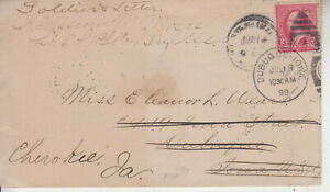 RARE SOLDIERS  MAIL LT.CO.L. CASSIUS MOSES 1ST COL. RIFLES JUN 14 1899 SPANISH
