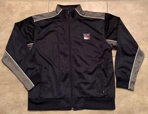 New York Rangers Corporate Edge Dark Blue w/ Gray Adult Zip Front Jacket NHL
