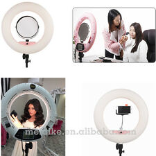 "18"" Bicolor Dimmable Photography LED Ring Light Kit Beauty Lamp For Video Makeup"