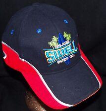 Island Swell Surf Company Hawaii Navy Hawaiian Surfboard Surfer Baseball Hat Cap