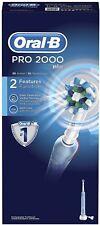 Oral-B pro 2000 cepillo de dientes electrico, con temporizador, andruckkontrolle y crossact