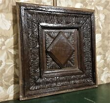 16 17 th Timeworn acanthus carving panel Antique french architectural salvage
