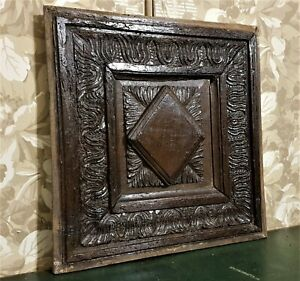 16 17 th century Acanthus carving panel Antique french architectural salvage