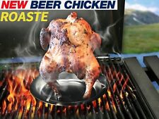 Beer Can Chicken Roaster Grill BBQ Barbecue Rack Non-stick Roasting Pan Cooker