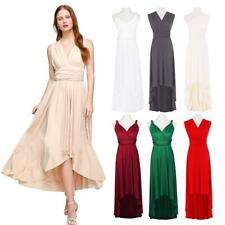 Womens Multiway Wrap Wedding Bridesmaid Convertible Dress Evening Party Gown