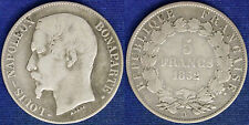 FRANCIA LUIGI NAPOLEONE 5 FRANCHI ARGENTO 1852 A #2430