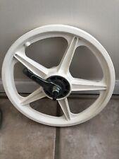 """Vintage NOS White  16"""" Mag-Lite BMX Freestyle Rear Wheel-Pit-Shimano MX Coaster"""