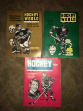 3 Vintage Hockey World Magazines January-March 1969