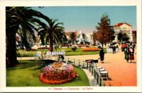 Vintage Postcard The Espalane And The Casino Cannes France Unposted