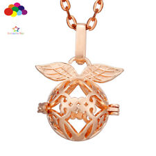 Aroma Diffuser Angel wings Necklace Lockets Perfume Essential Oil Aromatherapy