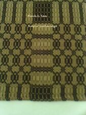"""BLACK / TAN WOVEN TABLE RUNNER 56"""" by 14"""" Cotton Acrylic Primitive Country"""