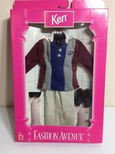 NRFB New 1997 KEN FASHION AVENUE OUTFIT Mattel #18099 Maroon Gray Blue