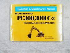 KOMATSU PC300, 300LC-3  OPERATION AND MAINTENANCE MANUAL 12001-up