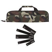 5 Pocket Chef Knife case roll bag (Camouflage Camo) w/ edge guard Set  Ergo Chef
