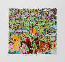 James Rizzi -Wings On my Feet - 2D Color lithography 1992, dated, titled