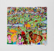 James Rizzi -Wings On my Feet - 2D Farblithografie 1992, datiert, betitelt