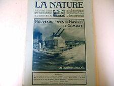 revue LA NATURE science industrie n° 2212 - 1916 guerre navires de combat