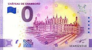 41 CHAMBORD Château, 2020, Billet Euro Souvenir