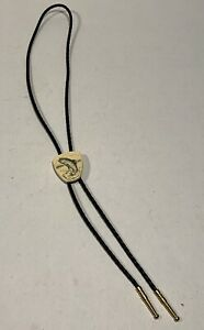 Vtg Scrimshaw Style Bolo Tie With Fish From Arizona