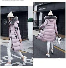 2017 Ladies Parka Winter Women's Down Jacket Warm long cotton Fur collar CoatXS