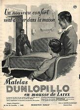 Publicité DUNLOPILLO matelas en mousse de LATEX