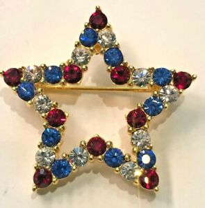 Joan Rivers Red, White & Blue Star Pin