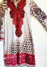 Pakistani Designer ELAN Lawn print embroidery Kameez Shirt dupatta Bollywood