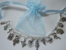 Alice in Wonderland Theme Charm Bracelet Party Bag Filler Birthday Gift Favour
