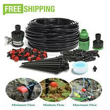 82ft Drip Irrigation System Plant Self Garden Watering Hose Spray Kit Diy Usa