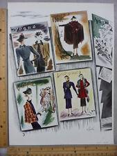 Rare Original VTG 1936 Bergdorf Goodman NY Fashion Vogue Advertising Art Print