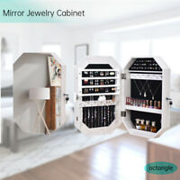 New Wall Mounted Jewelry MIrror Organizer Cabinet Box Bathroom Makeup Mirror