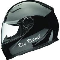 2 Personalised Name Stickers Motorbike Helmet Vinyl Decals Bike Crash Helmet