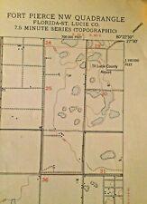 Authentic 1950 Fort Pierce NW Quadrant Florida Topographic  Map