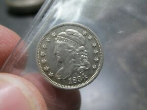 1834 EARLY BUST HALF DIME EXTRA FINE CONDITION