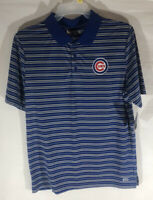 Chicago Cubs New W/ Tags Polo Shirt Large Blue MLB TX3 Cool Bryant Rizzo Baez