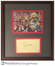 Jim Henson The Muppets Signed Framed Autograph Certified PSA/DNA Authentic Auto
