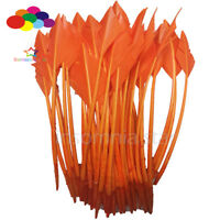 50 Pcs orange arrow turkey feathers 25-30 CM/10-12 INCH for jewelry Diy Carnival