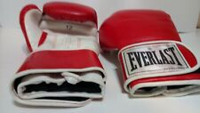 Everlast Boxing Training Gloves 12 ounce Wrist Wrap Level 1 Used / Color Red