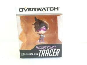 Overwatch Electric Purple Tracer Character Model Figurine Loot Blizzard Gaming