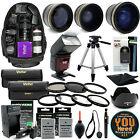 Nikon D3300 D3200 D5500 D5300 D5200 SLR Camera Everything You Need Accessory Kit