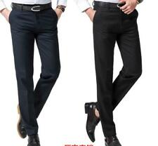 Men's Anti-wrinkle Cotton Wide Legging Formal Dress Trousers Blazer Suit pants