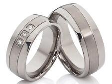 Titanium Rings Engagement Ring Wedding Rings Friendship Rings & Laser Engraving