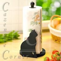 Cat Design Kitchen Paper Towel Roll Holder Rack Stand Dispenser