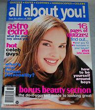 All About You Magazine November 1995 Scott Wolf Keith Hamilton Cobb Austin Peck