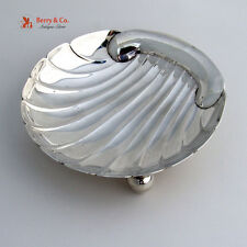 Shell Form Hand Made Serving Dish Sterling Silver 1950